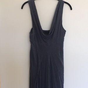 BCBG MaxAzria grey midi dress